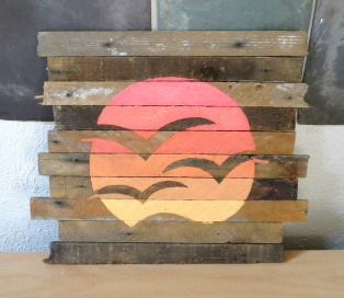 Reclaimed Sign Ombre Sunset